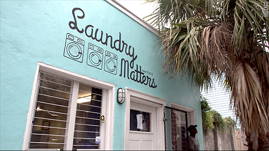 Kids learn coding in Charleston laundromat
