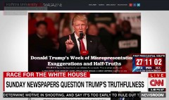 As debate approaches, newspapers question Trump's truthfulness
