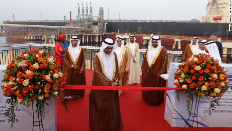 UAE fujairah tanker ceremony