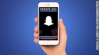 trump debate snapchat