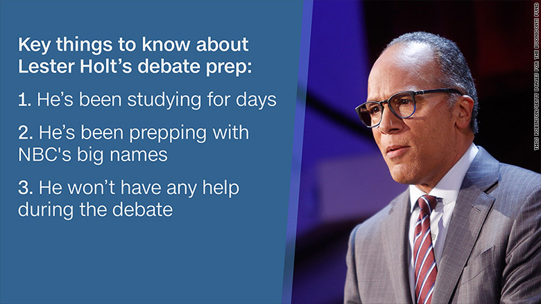 How Lester Holt is prepping for tonight's debate