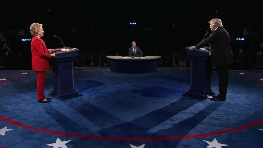 The Clinton/Trump faceoff in under 2 minutes