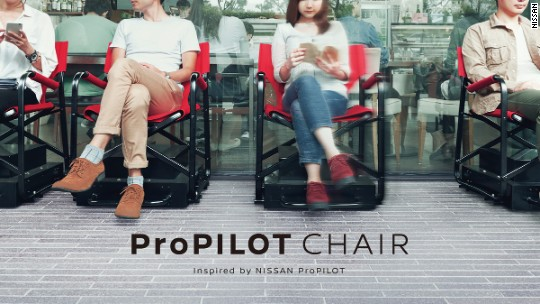 Hate standing in line? Check out this chair