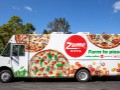 Robot pizza place's high-tech delivery trucks