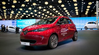 paris electric cars renault zoe