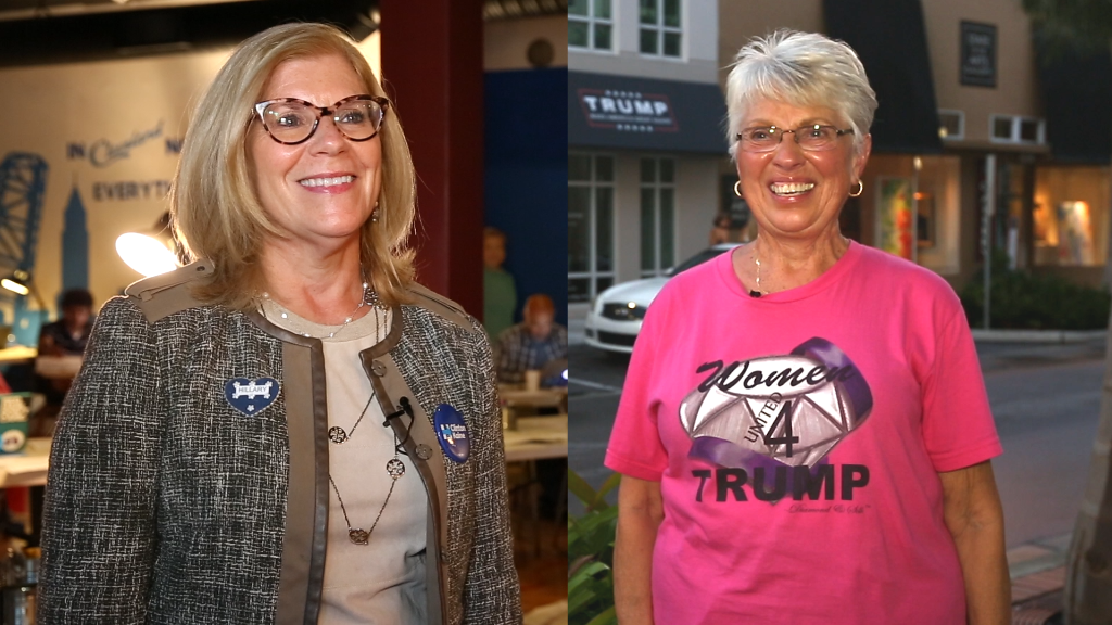 Head to head: Women for Trump and Clinton make their case.