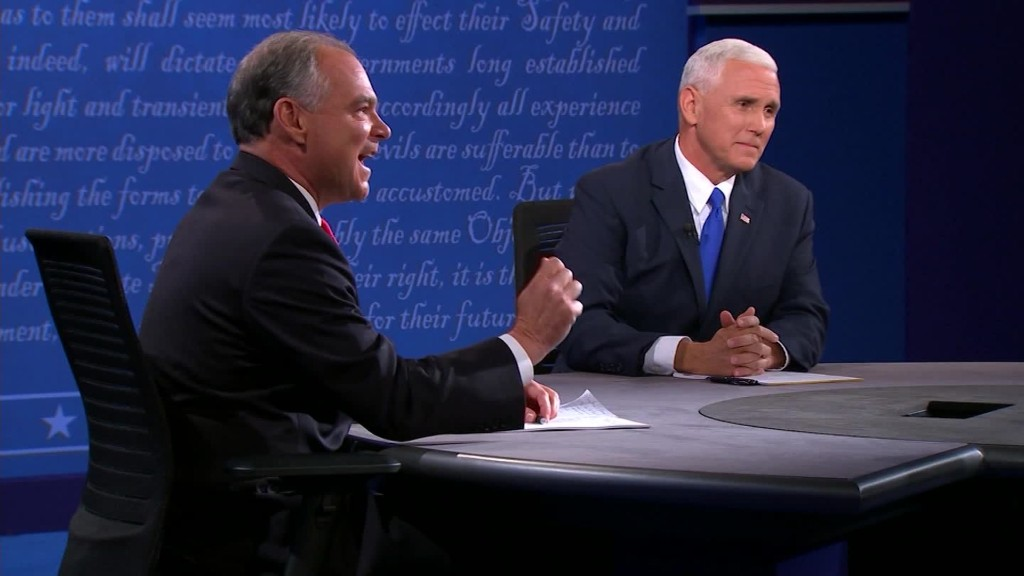 The contentious vice presidential debate in 90 seconds