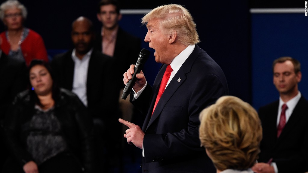 Trump vs. the moderators at the town hall debate