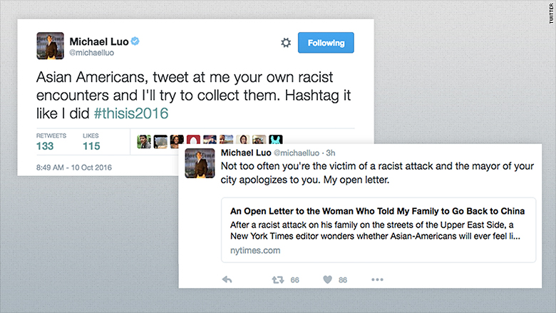 racist tweets asians