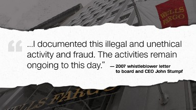 Letter warned Wells Fargo of 'widespread' fraud in 2007 - exclusive