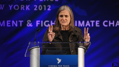 """Judge rules against riot charge for """"Democracy Now!"""" host Amy Goodman"""
