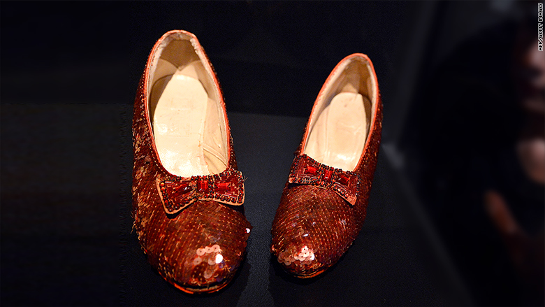 Dorothy's fading red slippers saved by $300,000 in crowdfunding