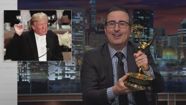 John Oliver offers his Emmy to Donald Trump