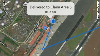 delta rfid luggage map tracking