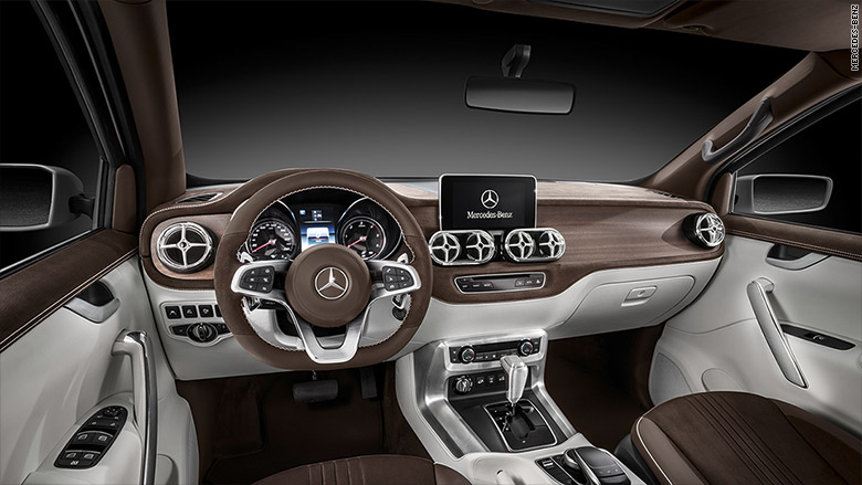 mercedes benz pickup interior