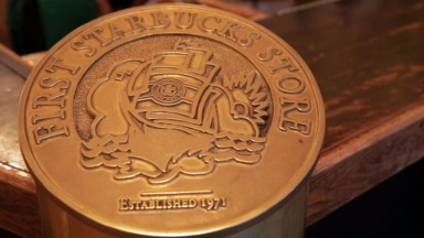 Inside the first ever Starbucks store