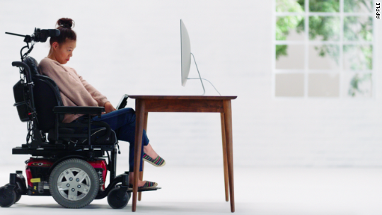 Woman in Apple's accessibility video also edited it