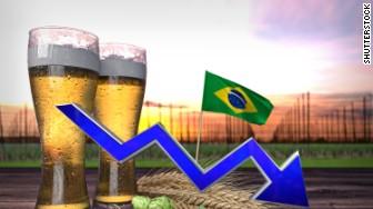 brazil beer down
