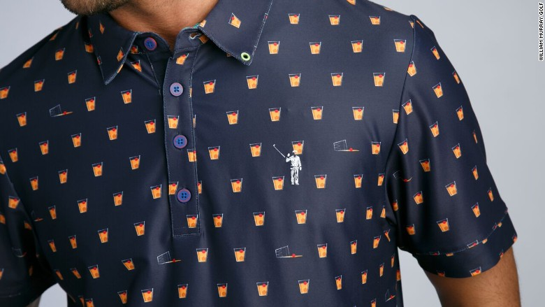 William Murray whiskey glass shirt