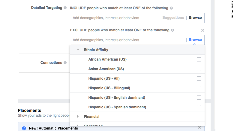 facebook ethnic affinity ad