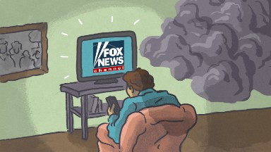 Fox News fans pessimistic about the country, and Clinton