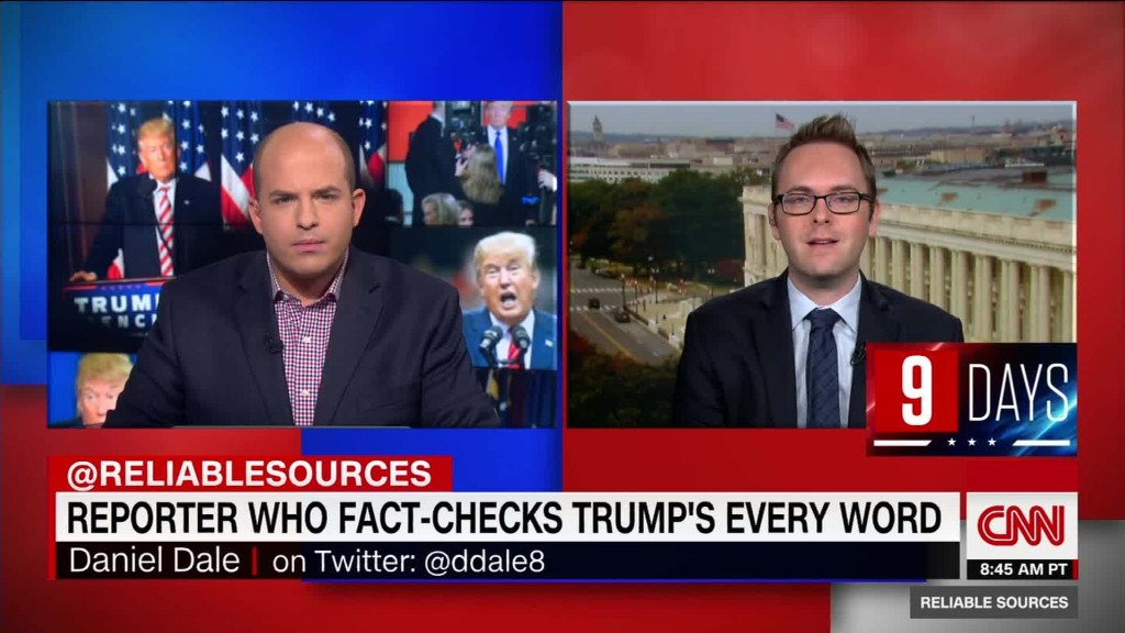 Reporter counts Trump's untruths every day