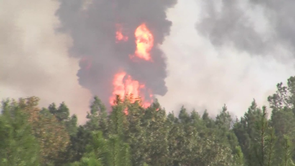 Local residents react to pipeline fire
