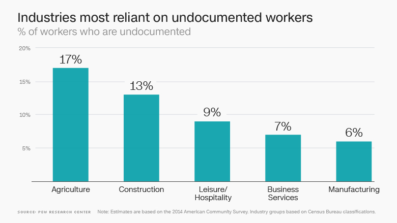 undocumented worker industries