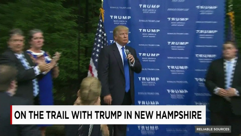 On the road with Trump in New Hampshire