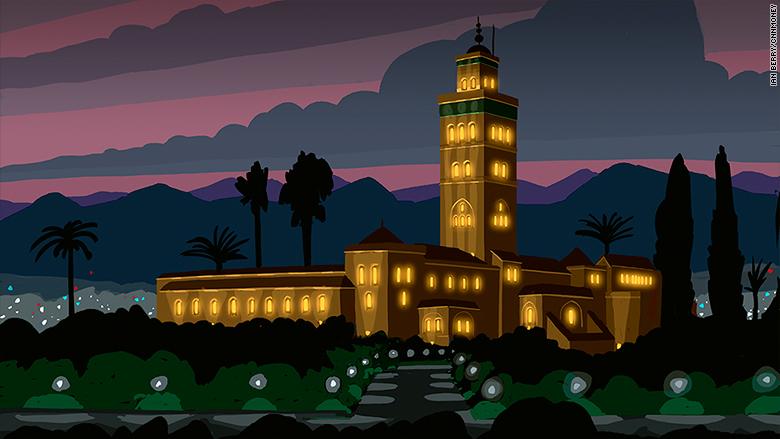morocco mosque marrakech koutoubia