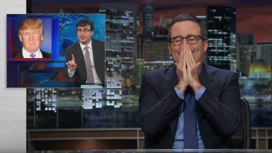 John Oliver now regrets urging Donald Trump to run