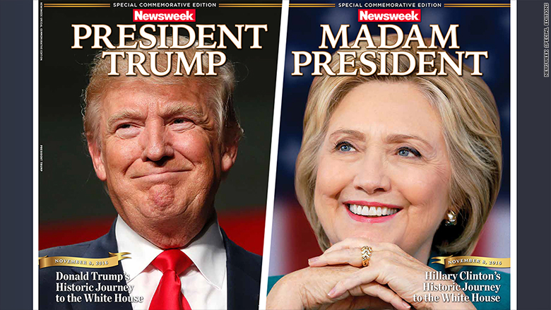 clinton trump newsweek cover