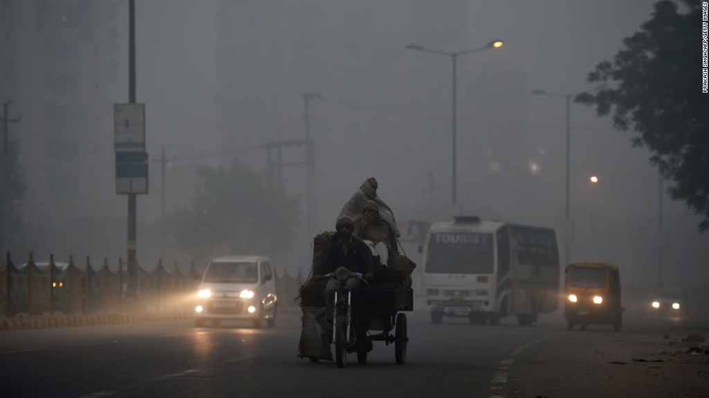 See how bad Delhi's pollution