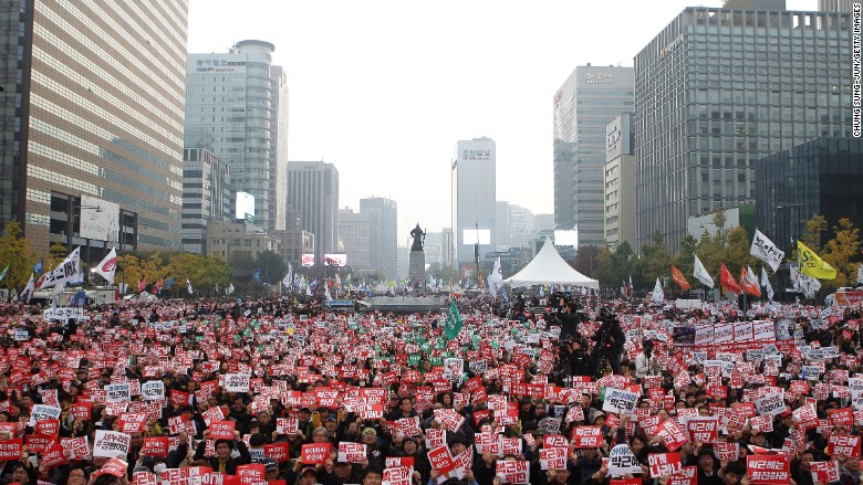 south korea president park protests