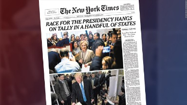 How newspaper front pages documented historic election results