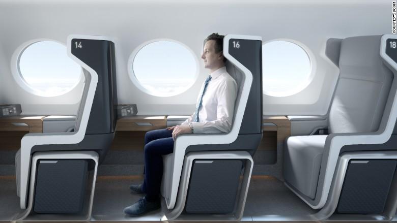 boom plane interior