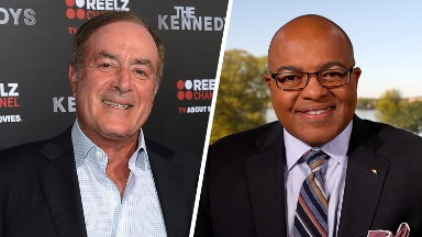 Mike Tirico subs for Al Michaels on NBC's NFL coverage