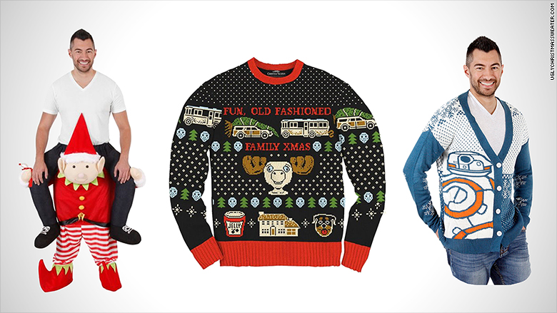 You can now design your own ugly Christmas sweater
