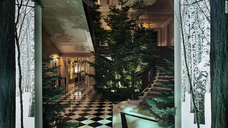 ive christmas tree claridges