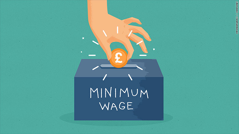 minimum wage illustration pounds