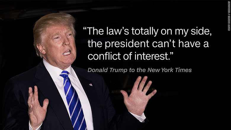 Image result for trump conflicts of interest