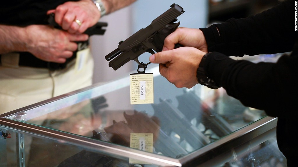 Customers flock to gun stores for Black Friday
