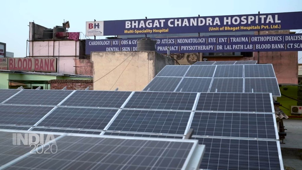 India taps into solar energy to power hospitals and schools
