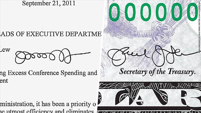 jack lew signature comparison