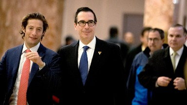 Trump's Treasury pick could face a fight