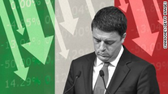 italy referendum markets down