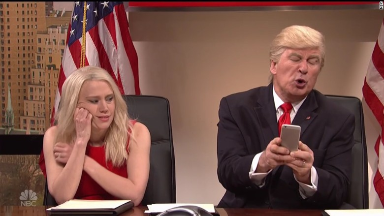 trump snl tweeting
