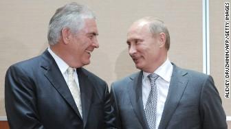 Rex Tillerson Exxon Vladimir Putin