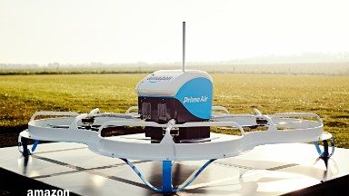 Amazon's delivery drones may drop packages via parachute