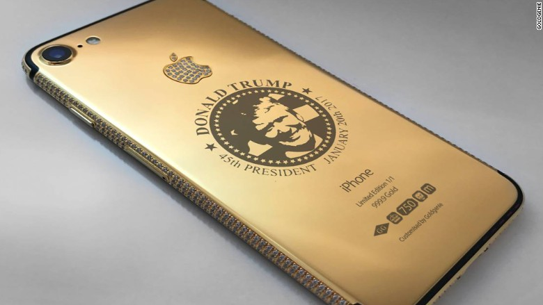 Trump gold iphone